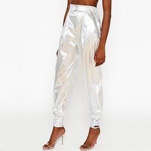 🌈HOST PICK🌈 Silver Paper Bag Waist Pants
